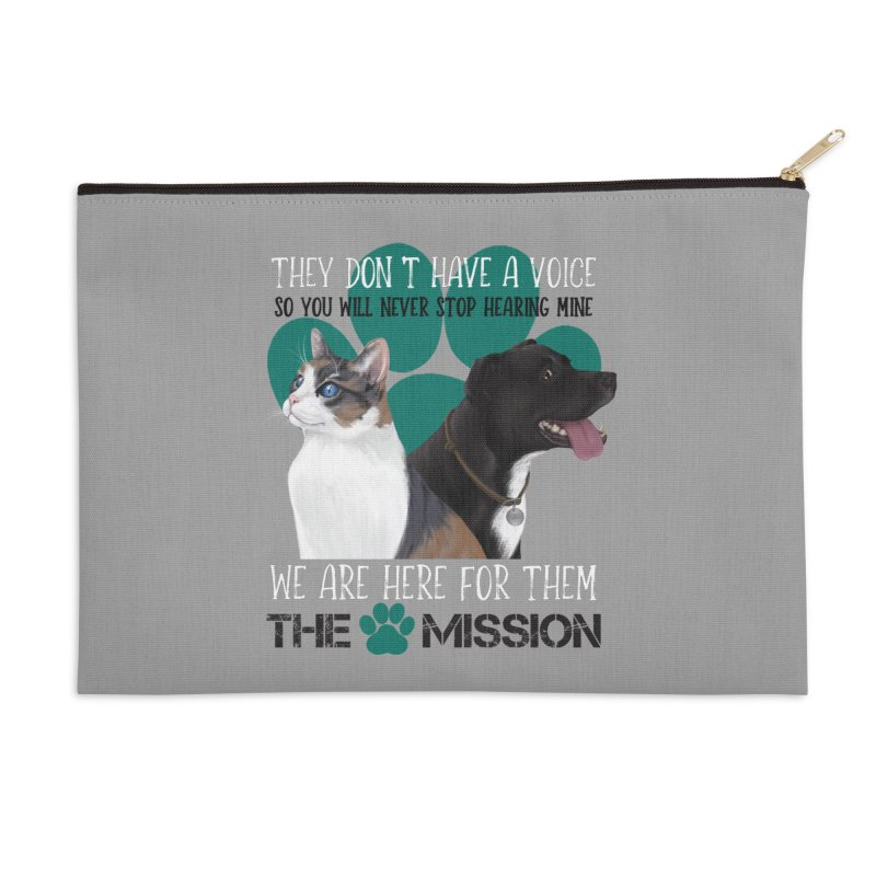 Hear My Voice Accessories Zip Pouch by The PAW Mission