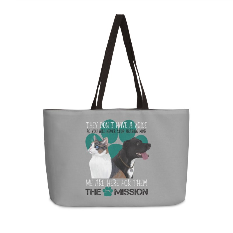 Hear My Voice Accessories Weekender Bag Bag by The PAW Mission