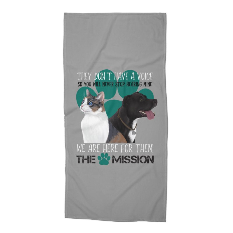 Hear My Voice Accessories Beach Towel by The PAW Mission