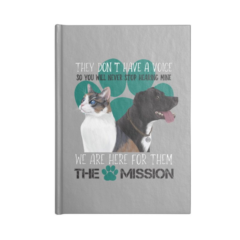 Hear My Voice Accessories Blank Journal Notebook by The PAW Mission
