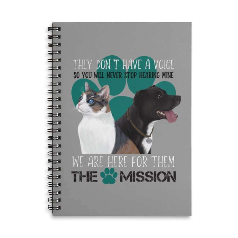 Hear My Voice Accessories Lined Spiral Notebook by The PAW Mission