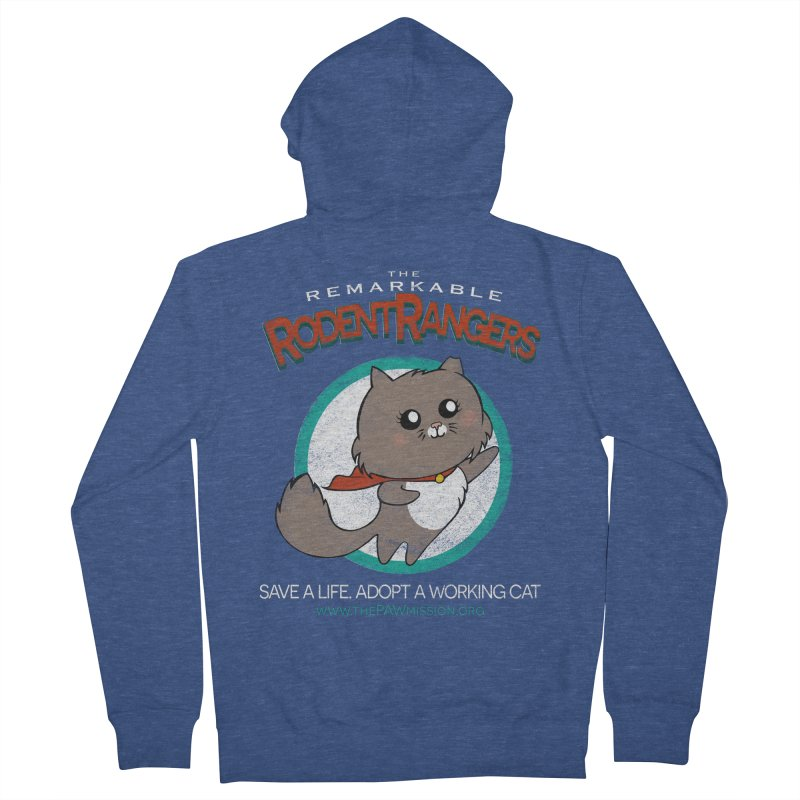Rodent Rangers Men's French Terry Zip-Up Hoody by The PAW Mission