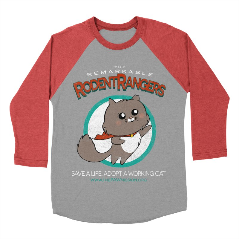 Rodent Rangers Women's Baseball Triblend Longsleeve T-Shirt by The PAW Mission