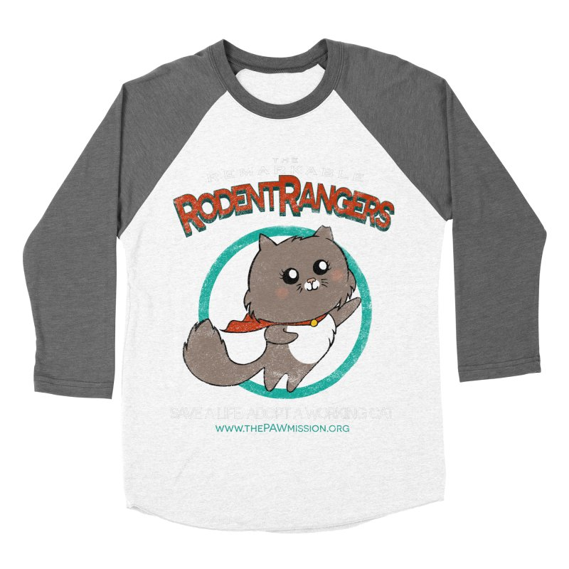 Rodent Rangers Men's Baseball Triblend Longsleeve T-Shirt by The PAW Mission
