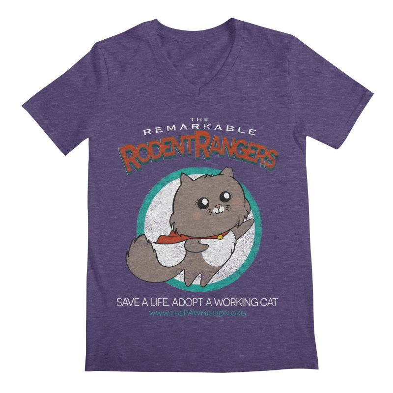 Rodent Rangers Men's Regular V-Neck by The PAW Mission