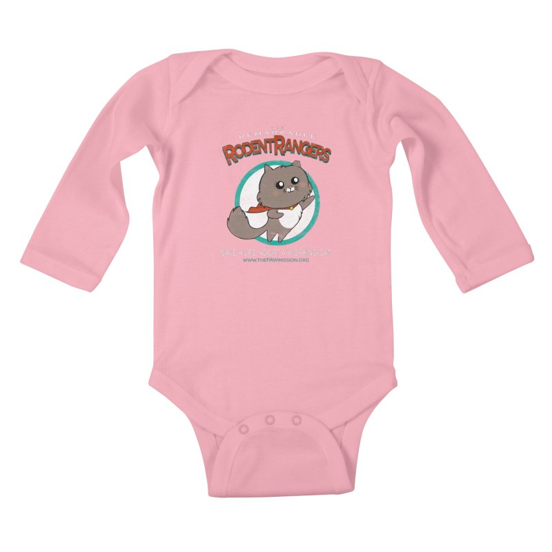 Rodent Rangers Kids Baby Longsleeve Bodysuit by The PAW Mission