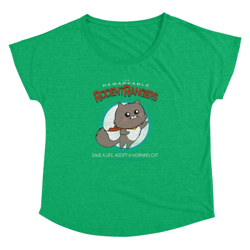 Rodent Rangers Women's Dolman Scoop Neck by The PAW Mission