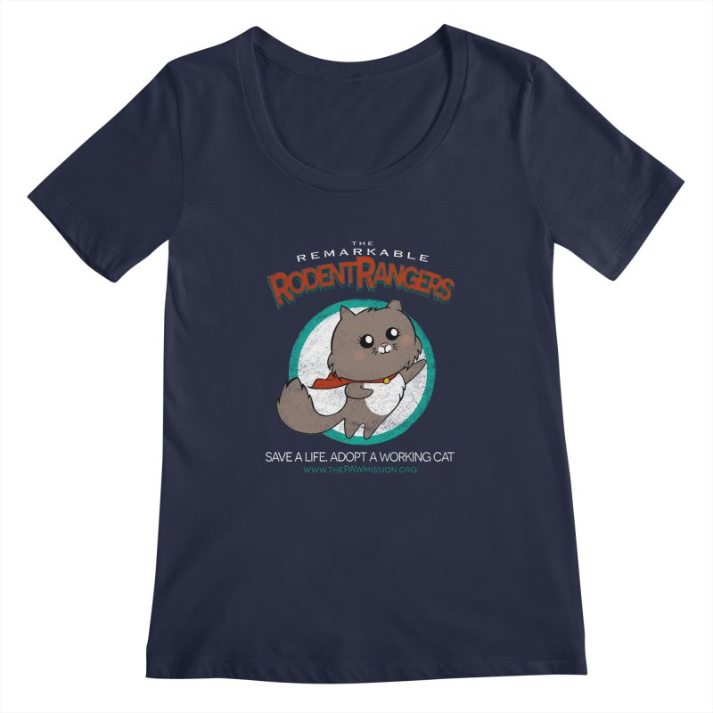 Rodent Rangers Women's Regular Scoop Neck by The PAW Mission