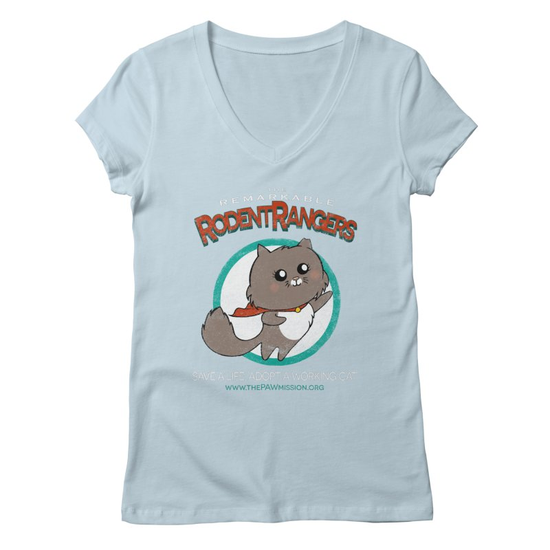 Rodent Rangers Women's Regular V-Neck by The PAW Mission