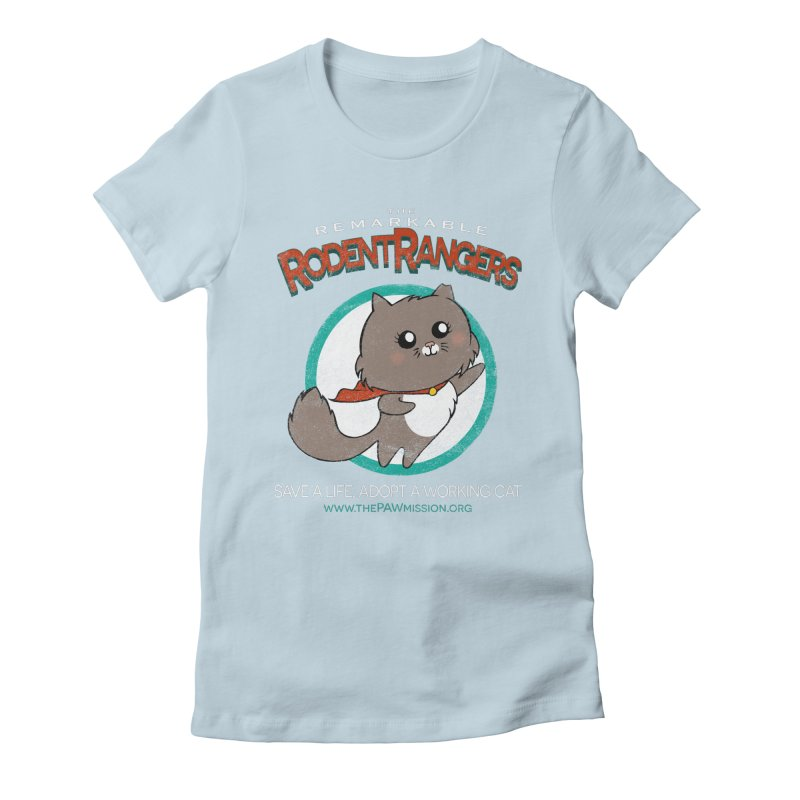 Rodent Rangers Women's Fitted T-Shirt by The PAW Mission