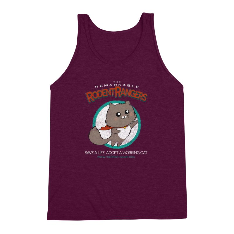 Rodent Rangers Men's Triblend Tank by The PAW Mission