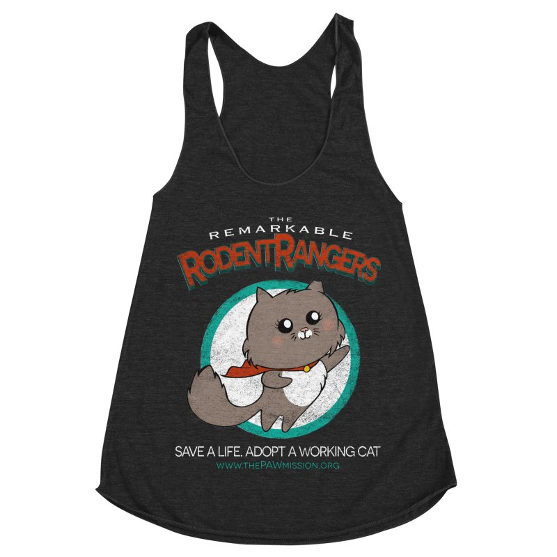 Rodent Rangers Women's Racerback Triblend Tank by The PAW Mission