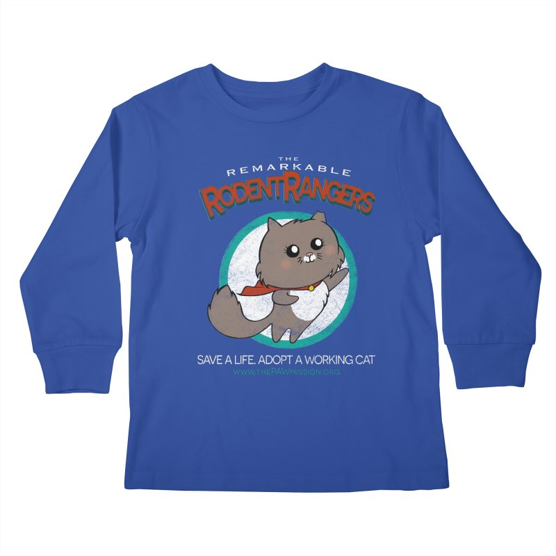 Rodent Rangers Kids Longsleeve T-Shirt by The PAW Mission