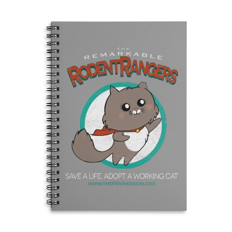 Rodent Rangers Accessories Lined Spiral Notebook by The PAW Mission