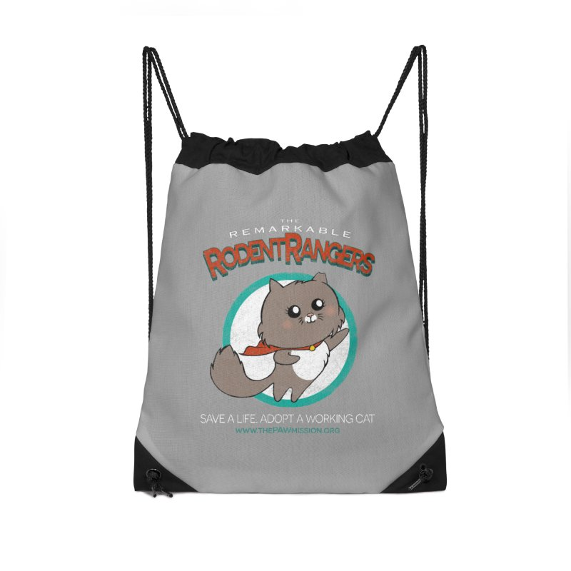 Rodent Rangers Accessories Drawstring Bag Bag by The PAW Mission