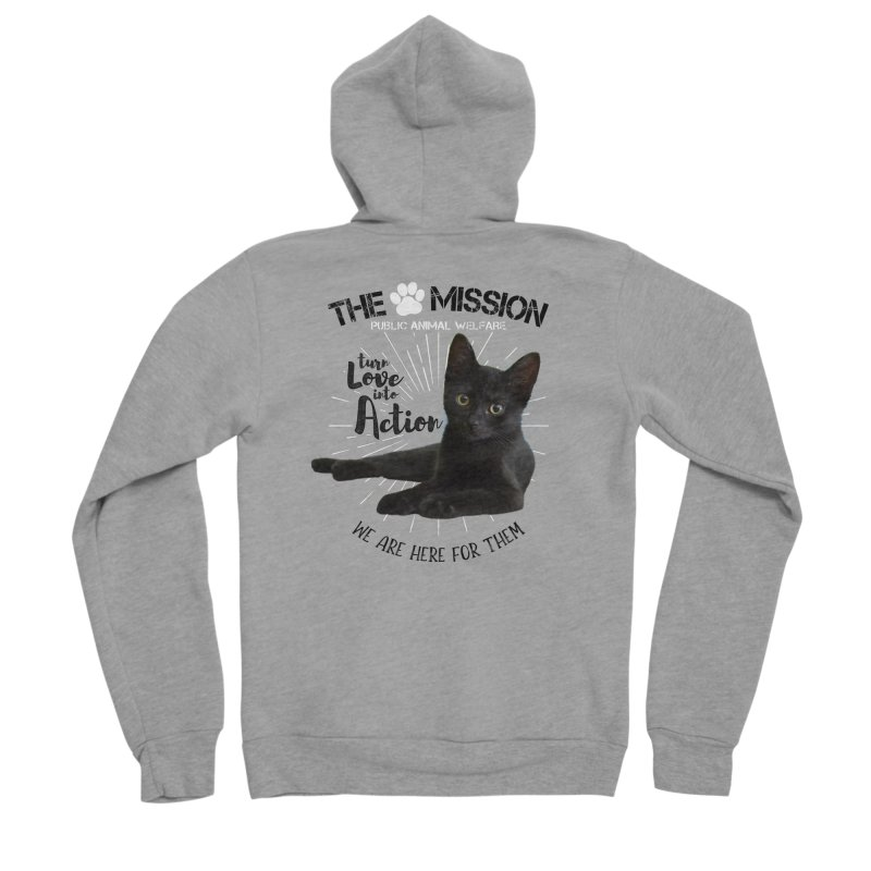 We are Here for Them Men's Sponge Fleece Zip-Up Hoody by The PAW Mission