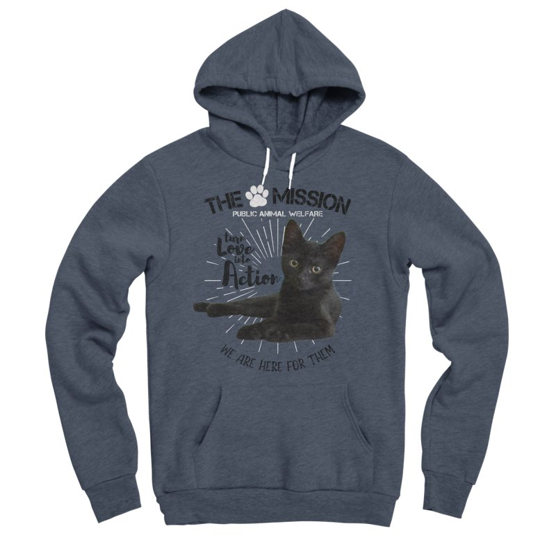 We are Here for Them Men's Sponge Fleece Pullover Hoody by The PAW Mission