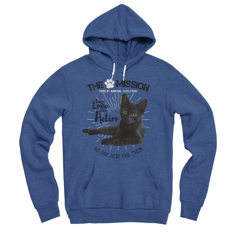 We are Here for Them Women's Sponge Fleece Pullover Hoody by The PAW Mission