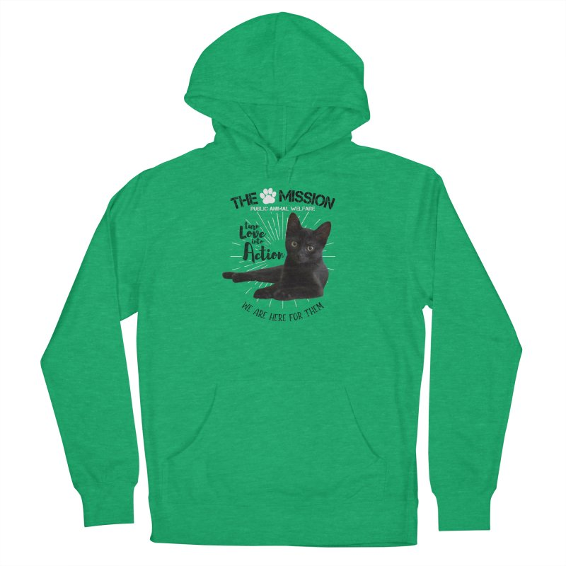 We are Here for Them Women's French Terry Pullover Hoody by The PAW Mission