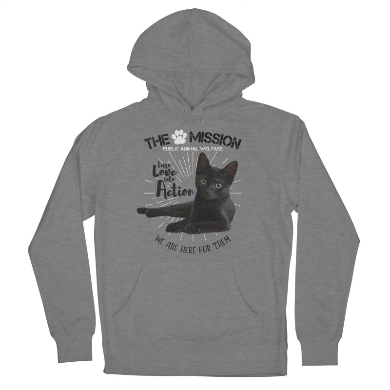 We are Here for Them Men's French Terry Pullover Hoody by The PAW Mission
