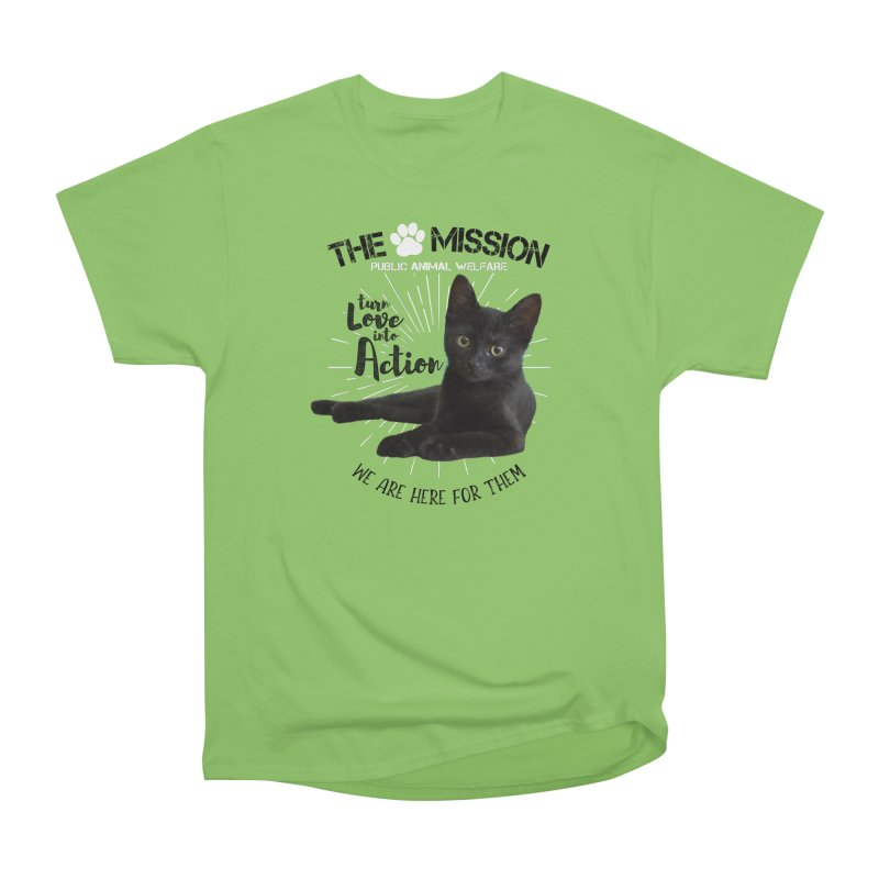 We are Here for Them Women's Heavyweight Unisex T-Shirt by The PAW Mission