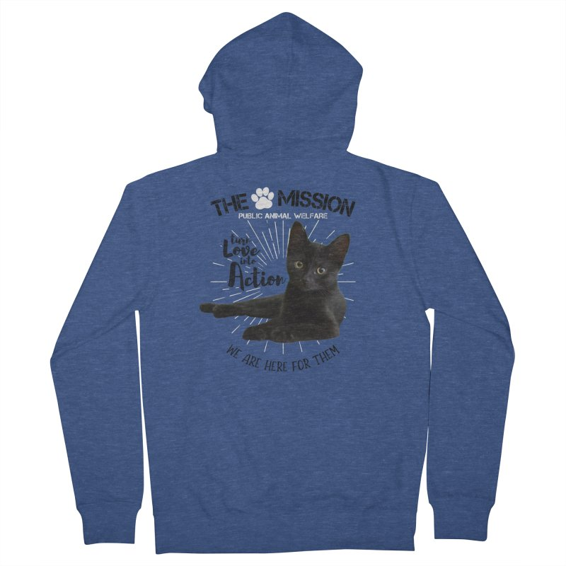 We are Here for Them Women's French Terry Zip-Up Hoody by The PAW Mission