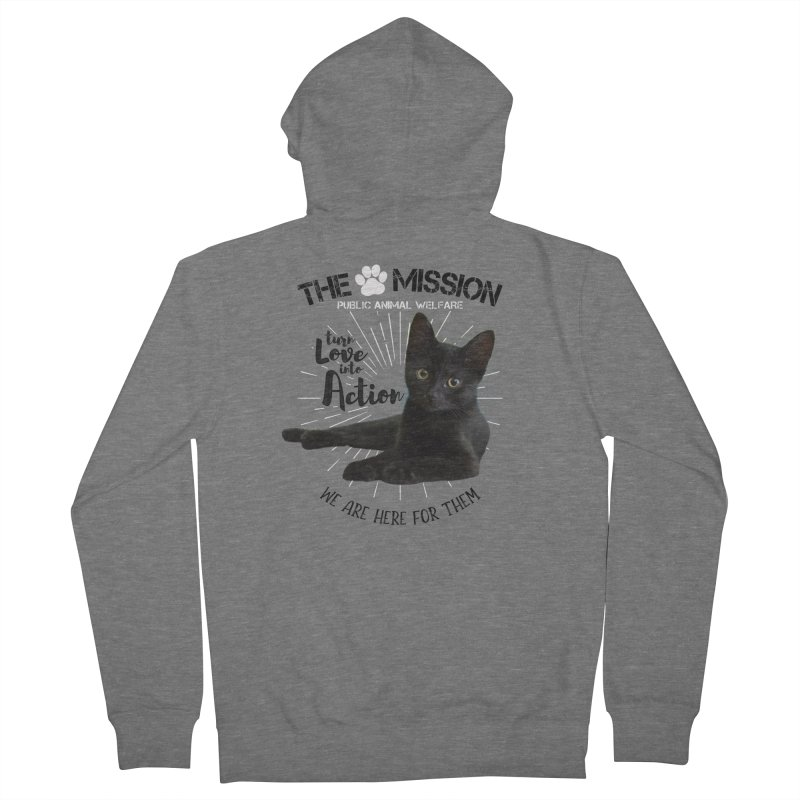 We are Here for Them Men's French Terry Zip-Up Hoody by The PAW Mission