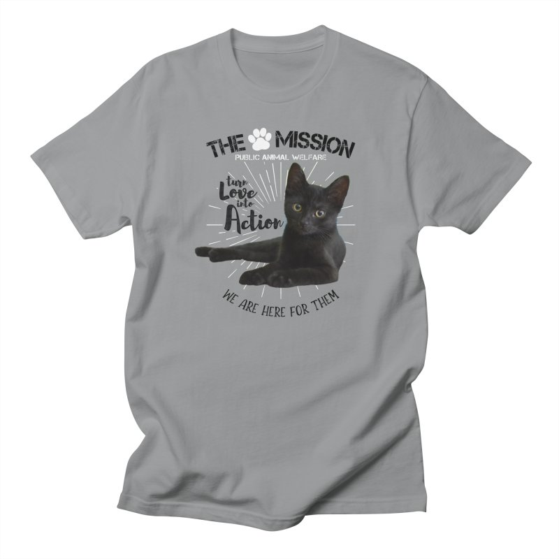 We are Here for Them Men's Regular T-Shirt by The PAW Mission