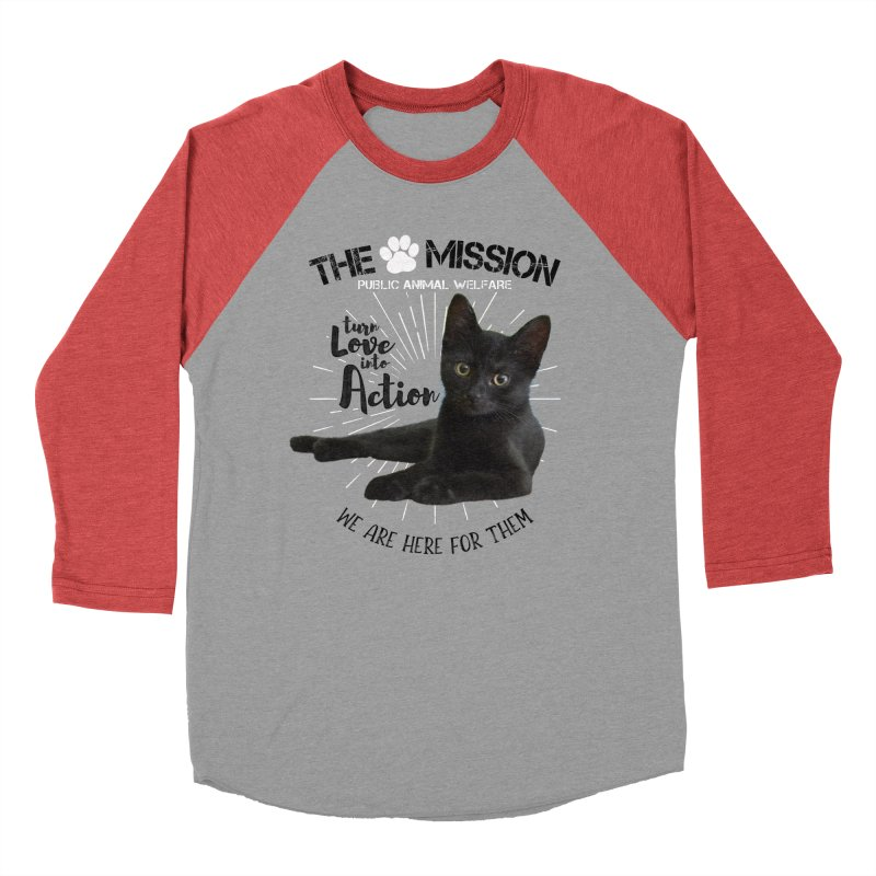 We are Here for Them Women's Baseball Triblend Longsleeve T-Shirt by The PAW Mission