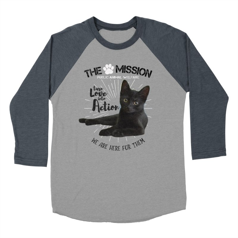 We are Here for Them Men's Baseball Triblend Longsleeve T-Shirt by The PAW Mission