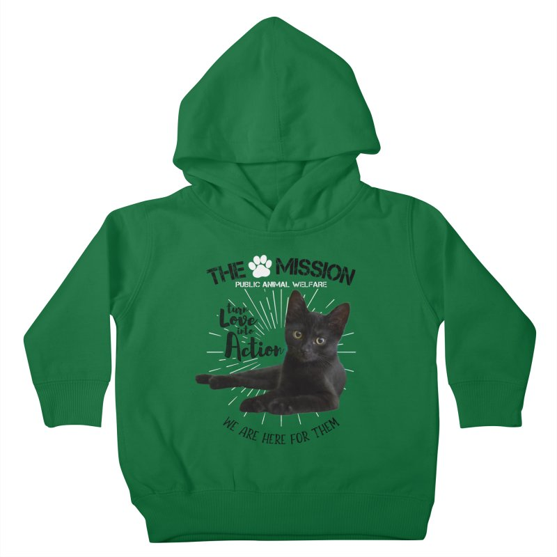 We are Here for Them Kids Toddler Pullover Hoody by The PAW Mission