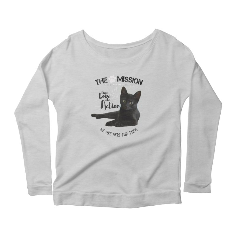 We are Here for Them Women's Scoop Neck Longsleeve T-Shirt by The PAW Mission