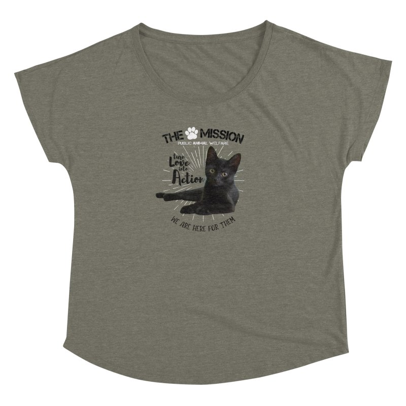 We are Here for Them Women's Dolman Scoop Neck by The PAW Mission