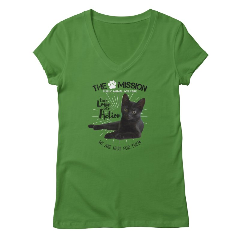 We are Here for Them Women's Regular V-Neck by The PAW Mission