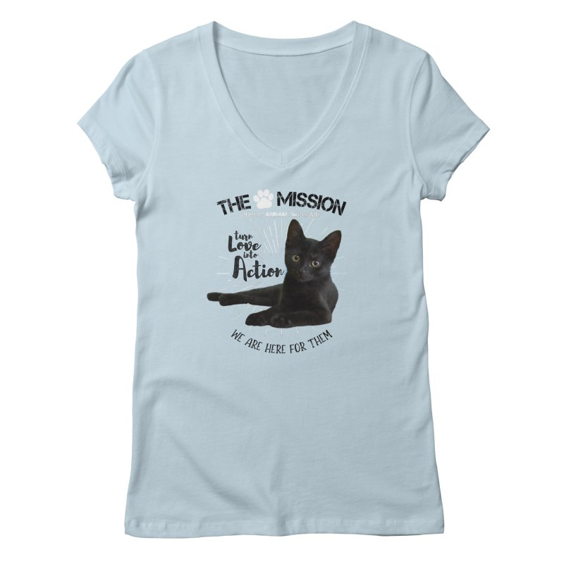 We are Here for Them Women's V-Neck by The PAW Mission
