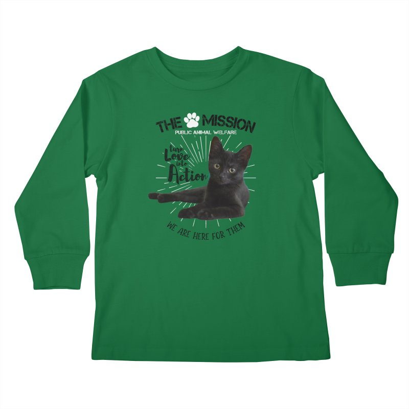 We are Here for Them Kids Longsleeve T-Shirt by The PAW Mission