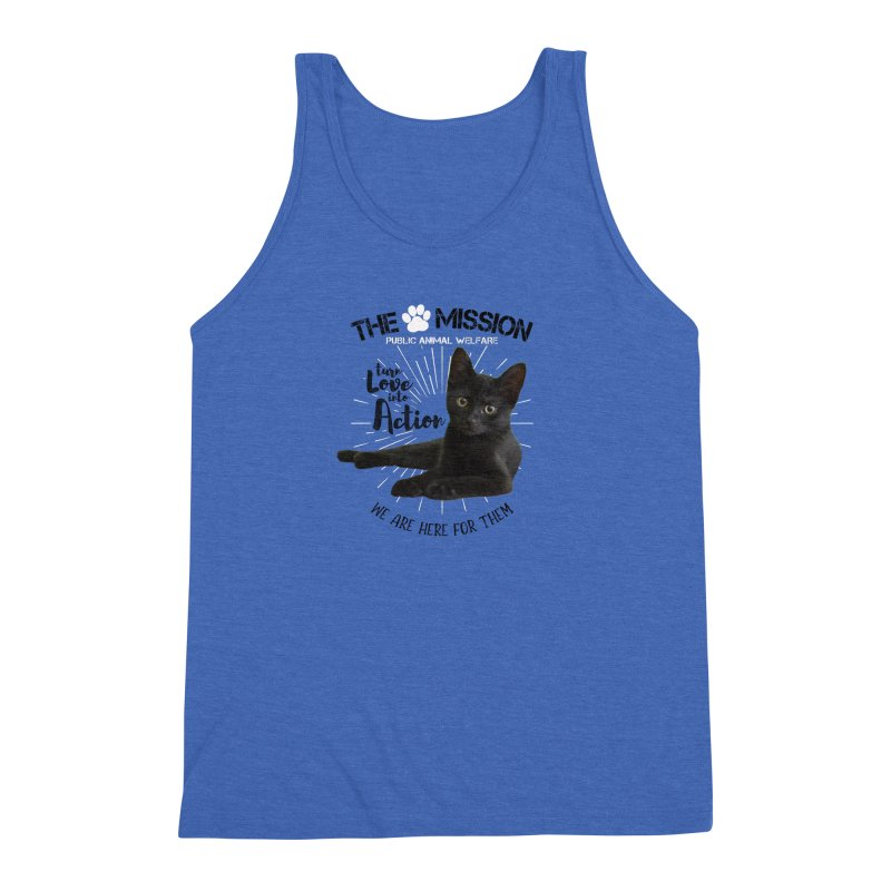 We are Here for Them Men's Triblend Tank by The PAW Mission