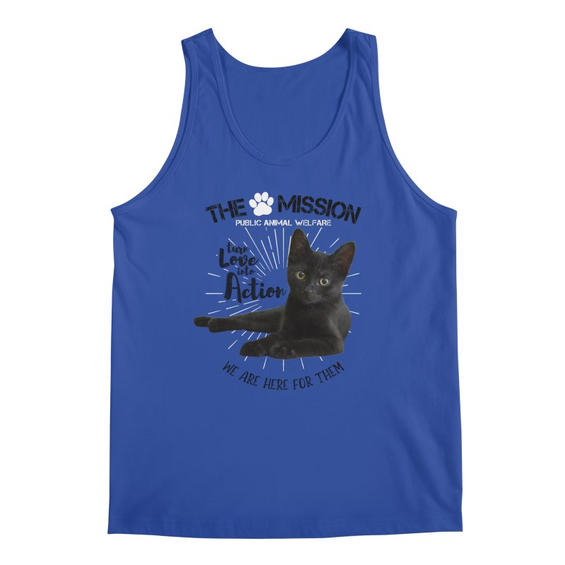 We are Here for Them Men's Regular Tank by The PAW Mission