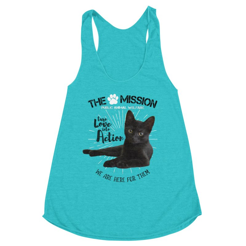 We are Here for Them Women's Racerback Triblend Tank by The PAW Mission