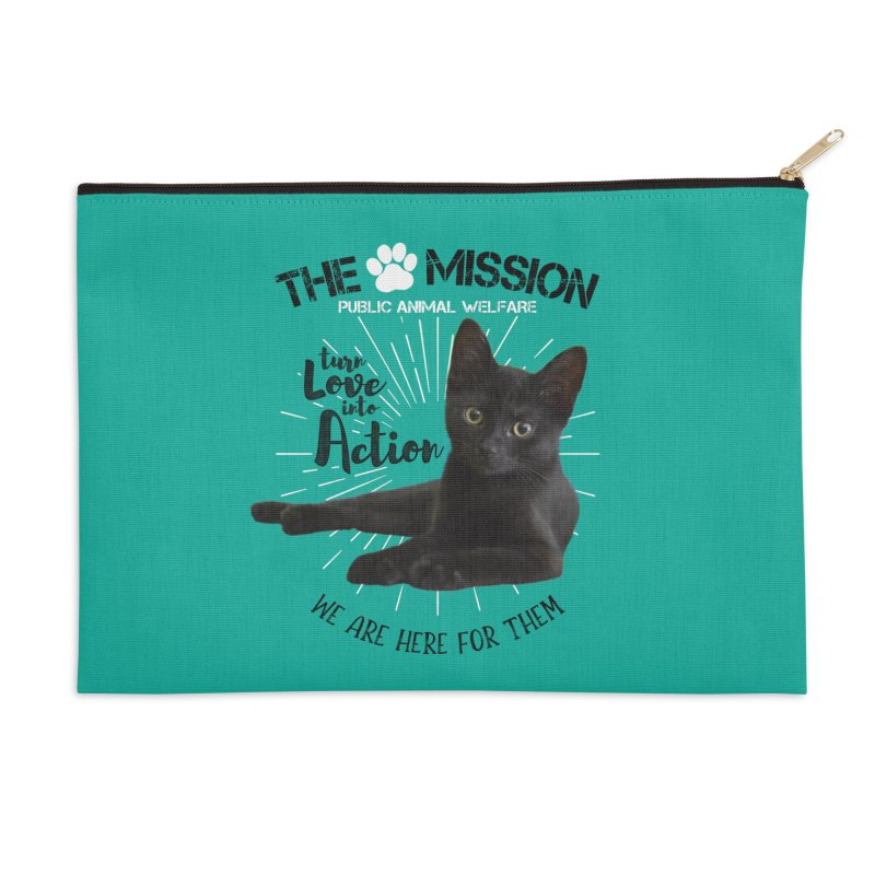 We are Here for Them Accessories Zip Pouch by The PAW Mission
