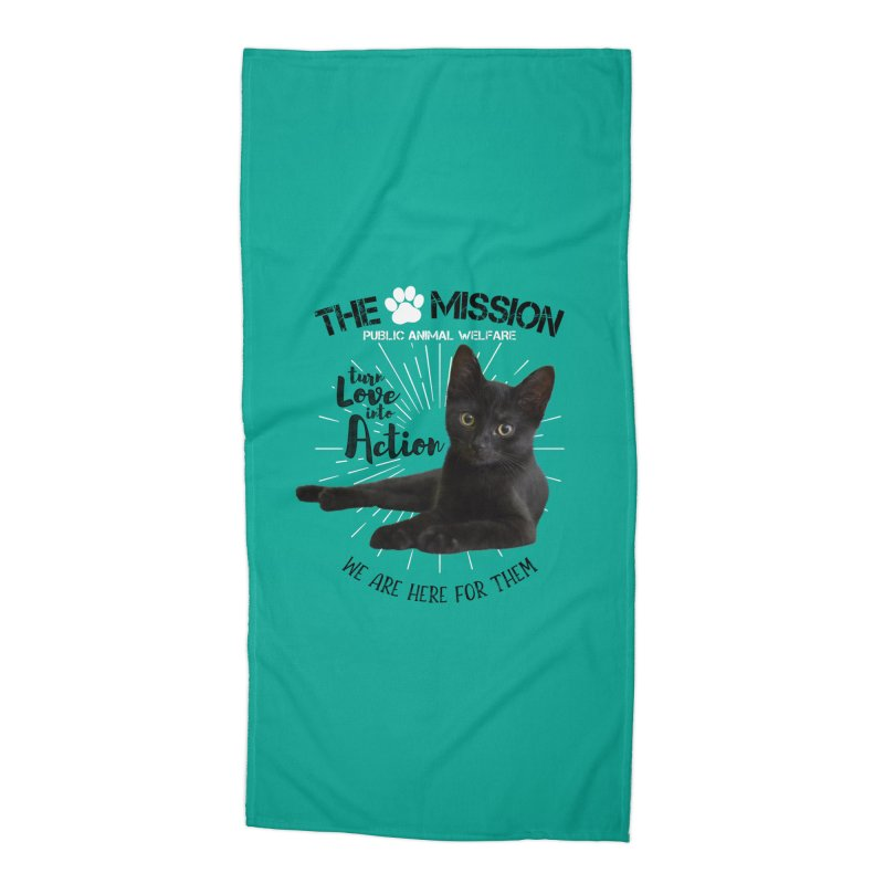 We are Here for Them Accessories Beach Towel by The PAW Mission
