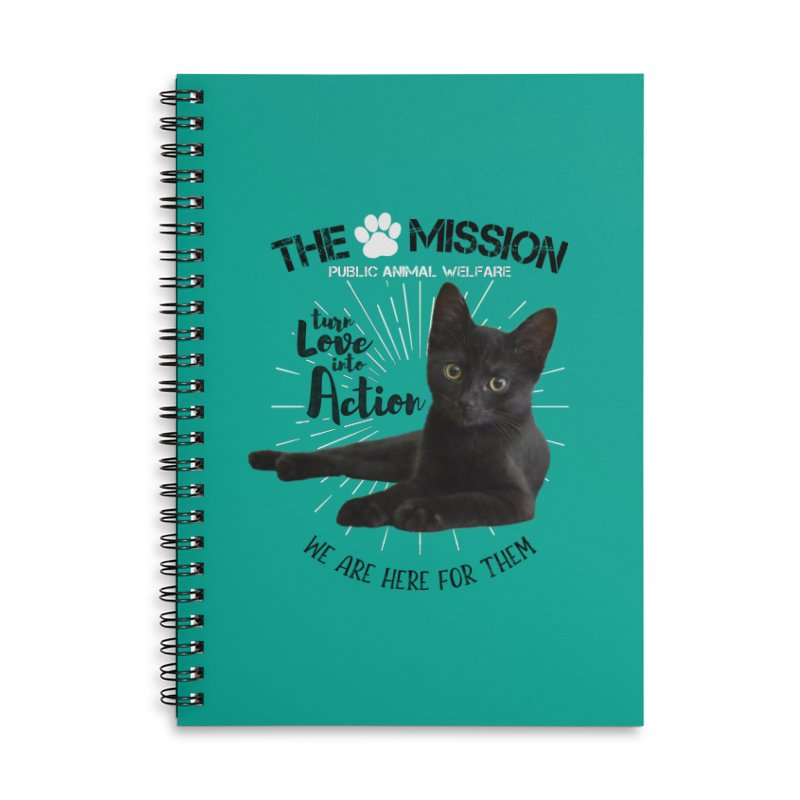 We are Here for Them Accessories Lined Spiral Notebook by The PAW Mission