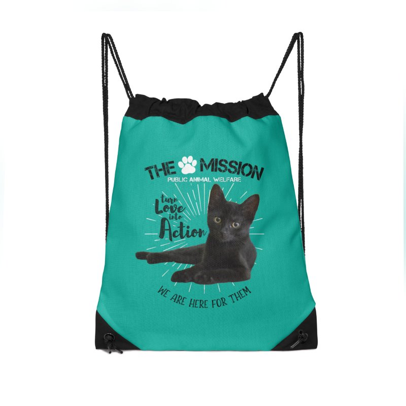 We are Here for Them Accessories Drawstring Bag Bag by The PAW Mission