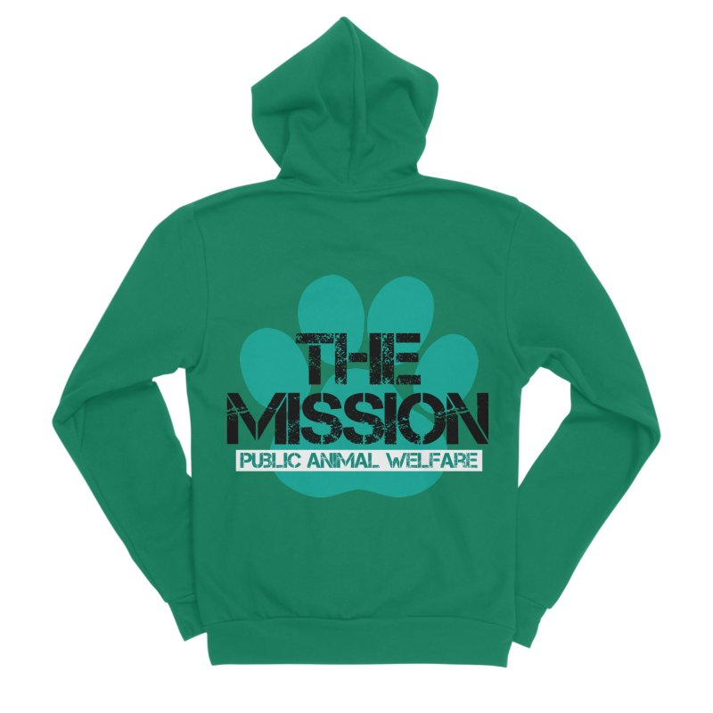PAW Logo Women's Sponge Fleece Zip-Up Hoody by The PAW Mission