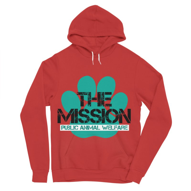 PAW Logo Women's Sponge Fleece Pullover Hoody by The PAW Mission