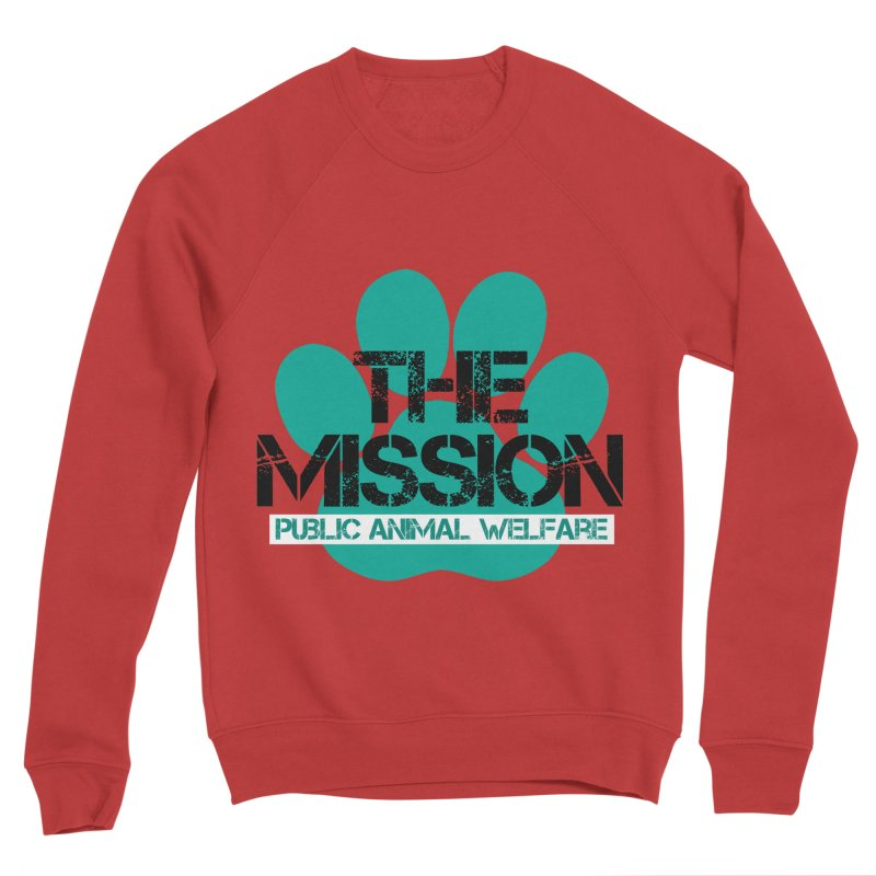 PAW Logo Women's Sponge Fleece Sweatshirt by The PAW Mission