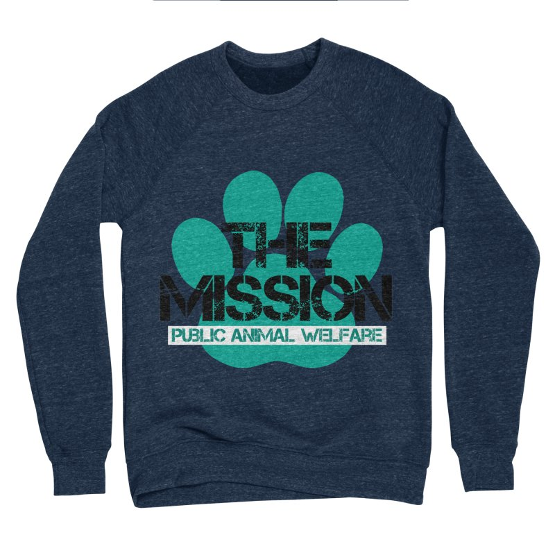 PAW Logo Men's Sponge Fleece Sweatshirt by The PAW Mission