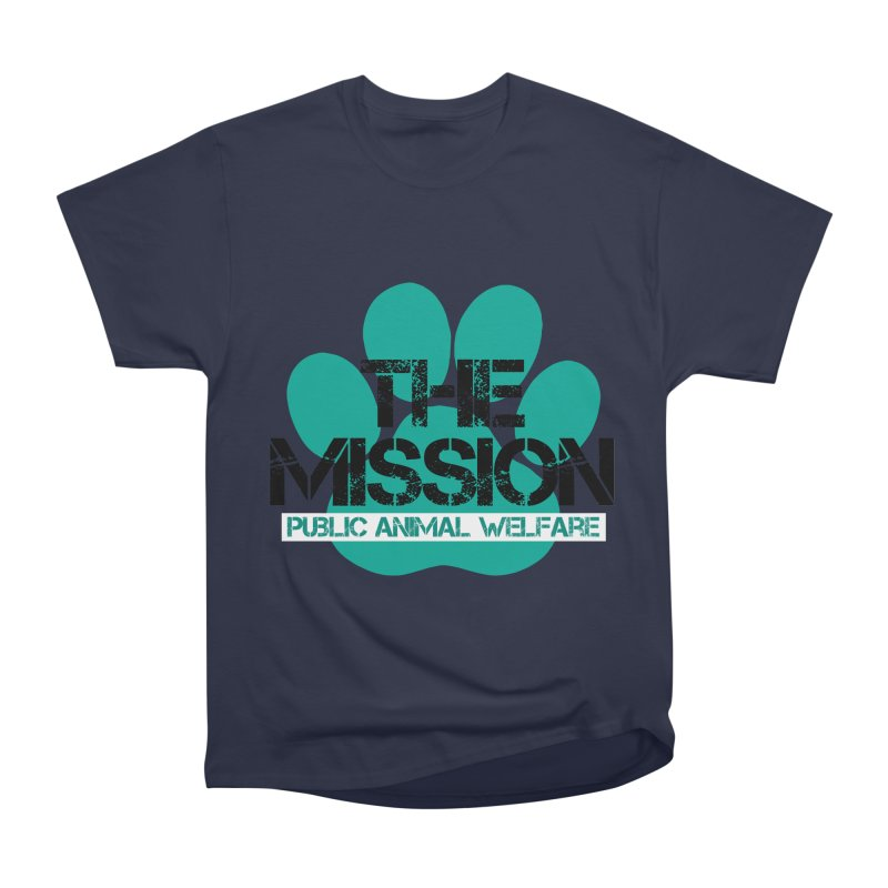 PAW Logo Women's Heavyweight Unisex T-Shirt by The PAW Mission