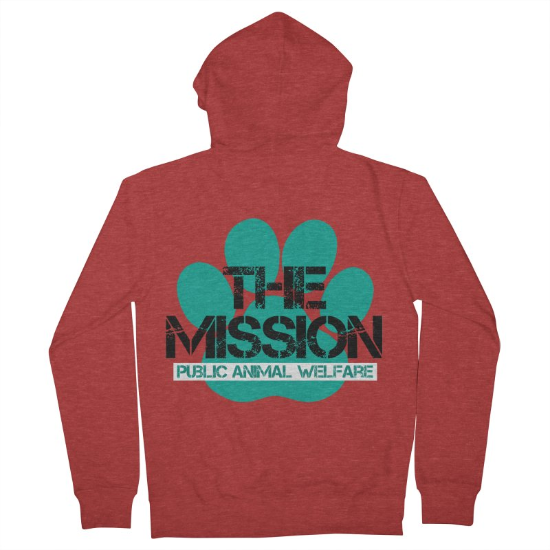 PAW Logo Women's French Terry Zip-Up Hoody by The PAW Mission