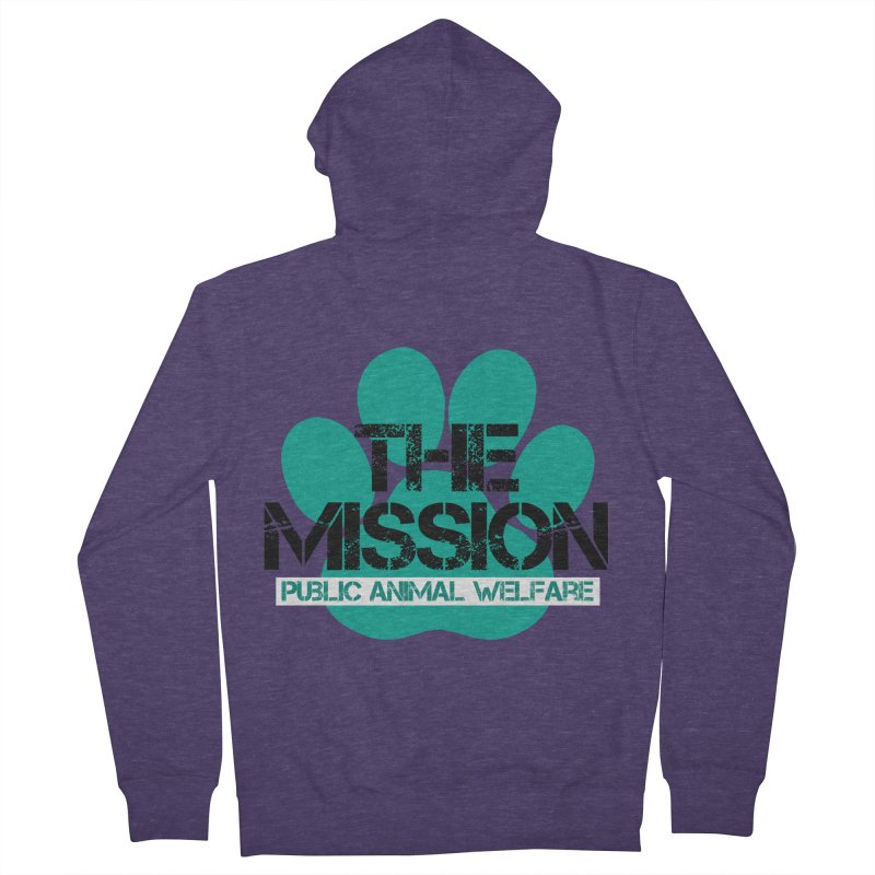 PAW Logo Men's French Terry Zip-Up Hoody by The PAW Mission